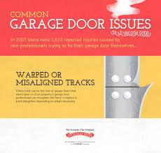 garage door opener track misaligned tracks overhead door of four corners