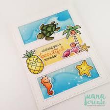juana ambida lawn fawn beach themed birthday cards