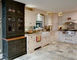 traditional kitchen custom hutch apron sink corner appliance