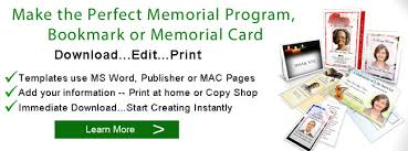 memorial service programs memorial service ideas funeral ideas memorial service programs