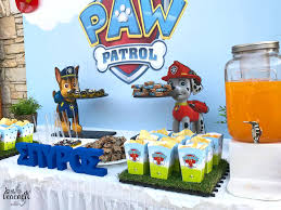 paw patrol candy table ideas spyro s 4th birthday paw patrol peacock events