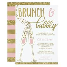 bridal shower invitations brunch brunch and bubbly bridal shower invite faux gold card zazzle