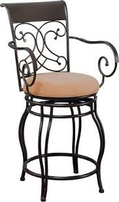 bar height big u0026 tall copper back swivel bar stool with arms by