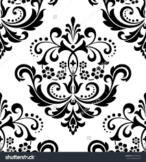 Black Damask Wallpaper Home Decor by Damask Seamless Floral Pattern Royal Wallpaper Flowers On A Black
