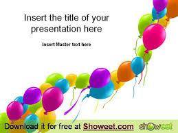 free powerpoint template balloons authorstream
