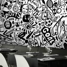 film thailand di ktv 3d photo wallpaper large mural graffiti european characters