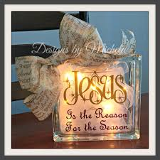 jesus is the reason for the season lighted glass 8 inch