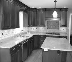 perfect l shaped kitchen design orangearts black and white ideas