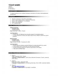 Resume Outlines Examples Sample Of A Good Resume Format Sample Resume And Free Resume