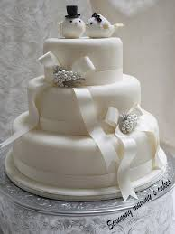 3 Tier Wedding Cake Scrummy Mummy U0027s Cakes Lovebirds 3 Tier Wedding Cake