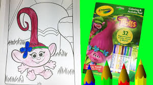 dreamworks trolls movie baby poppy crayola coloring u0026 activity pad
