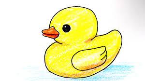 drawn duckling kawaii pencil and in color drawn duckling kawaii