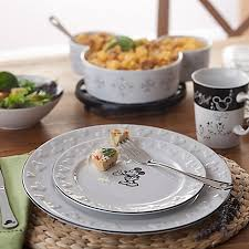 cuisine mickey disney dinner plate gourmet mickey mouse icon black and white