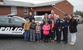 students thank police officers east greenbush csd