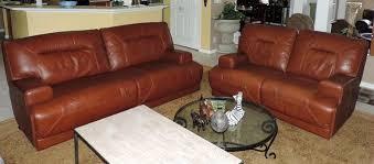 cognac leather reclining sofa macy s ricardo cognac leather power reclining sofa loveseat we