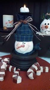 dollar store crafts wine glass upside snowman candle holder tea