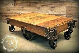 industrial coffee table with wheels industrial coffee table with wheels industrial coffee table on