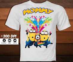 minion birthday iron on transfer shirt printable minion