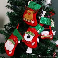 christmas stocking sequin socks gifts sacks candy bags cartoon