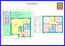 plan maison 4 chambres étage