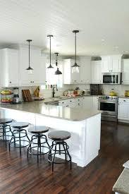 pendant lighting for kitchens white kitchen steel pendant light