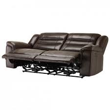 2 Seater Reclining Leather Sofa Brody 3 Seater Sofa With 2 Electric Recliners Brown Leather