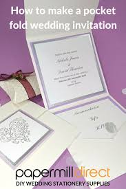 pocket fold diy wedding stationery how to make a pocket fold wedding invitation