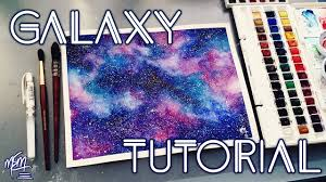 how to paint a watercolour galaxy tutorial youtube