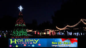 largo central park christmas lights holiday lights at largo central park youtube
