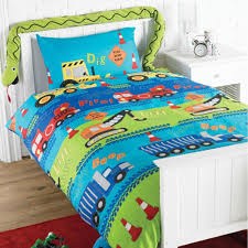 Teal Single Duvet Cover Road Works U0027 Children U0027s Single Duvet Set Amazon Co Uk Kitchen U0026 Home