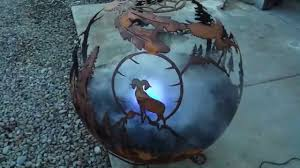 Fire Pit Globe by Wildlife Fire Pit Fountain With Color Changing Led U0027s Youtube