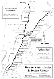 County Map New York by New York Westchester U0026 Boston Railway Archive Route Maps
