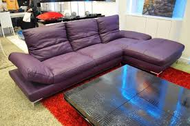 dahlia purple leather sectional sofa