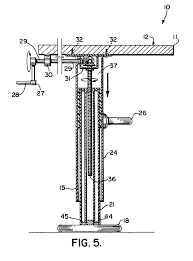 Adjustable Height Desk Legs by Patent Us6935250 Adjustable Height Table With Multiple Legs