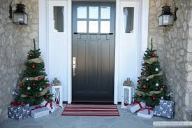 best diy front door ideas e2 design idea and decor image of blue christmas front porch the sunny side up blog presents and trees home remodeling ideas