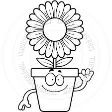 flower pot clipart black and white clipartsgram com