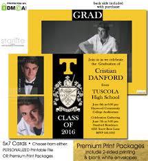 grad announcement tuscola yellow and black color blocks graduation announcement