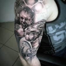 50 fitness tattoos for men bodybuilding design ideas