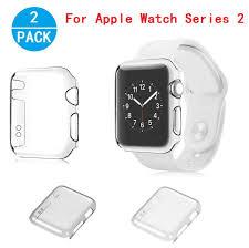 apple watch series 2 case haoos ultra thin slim clear pc hard