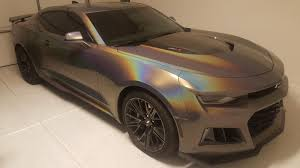 wrapped cars camaro zl1 owner wraps his car in 3m gloss flip psychedelic vinyl