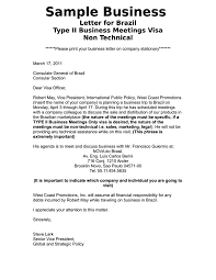 Business Introduction Letter Samples by Sample Business Introduction Letter For Brazil Visa