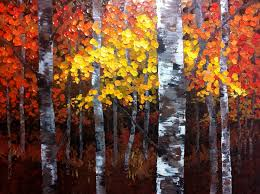 work in progress a night to remember 48 x 36 aspen birch tree acrylic painting on canvas