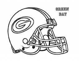 football helmet green bay packers coloring page for kids kids