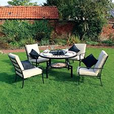kingfisher pitset1 fire pit dining mosaic set with 4 chair and