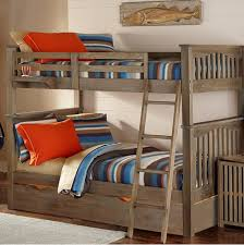 Kenwood Collection Full Over Full Bunk Bed In Driftwood Kids - Full over full bunk bed