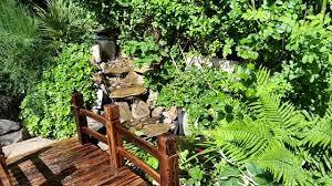 garden pond mini bridge waterfall youtube