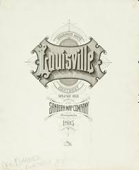 Louisville Map Gimme Bar Sanborn Insurance Map Kentucky Louisville 1905