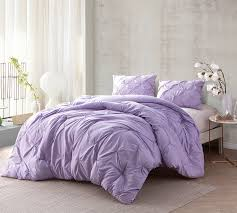 Light Comforters Oversized King Bed Comforters Orchid Petal Pin Tuck Decorative