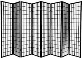 Risor Room Divider Amazon Com 8 Panel Room Divider Screen Black Kitchen U0026 Dining