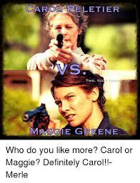 Carol Twd Meme - collab 1 cheryl blossom 2 katherine pierce 3 carol peletier 4